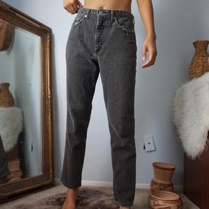 Vintage Guess High Rise Mom Jeans Grey 33